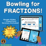 Identifying Fractions Game Bowling Theme - Distance Learning