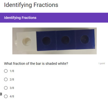 Identifying Fractions Google Form