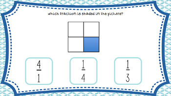 Identifying Fractions Interactive PDF Click Quiz