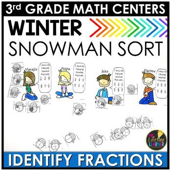 Identifying Fractions January Math Center