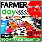 Identifying Fractions Math Game - Life on the Farm Real World Math Activity