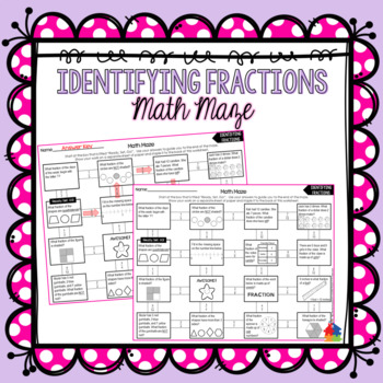 Identifying Fractions Math Maze