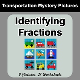Identifying Fractions | Math Mystery Picture Worksheets -
