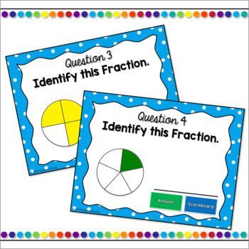 Identifying Fractions Mini Powerpoint Game Freebie
