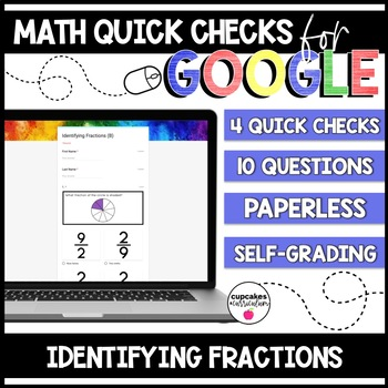 Identifying Fractions Paperless Google Quick Checks | 3.NF.1
