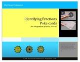 Identifying Fractions Poke Cards