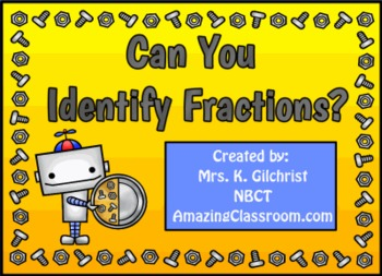 Identifying Fractions Promethean ActivInspire Flipchart Lesson