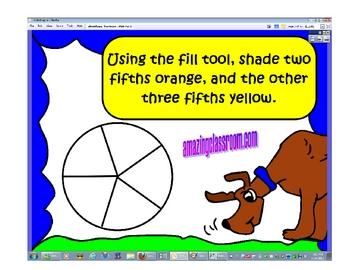 Identifying Fractions Promethean Flipchart Lesson