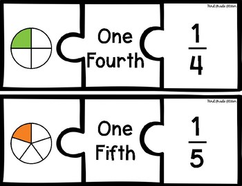 Identifying Fractions Puzzles