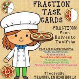 Identifying Fractions Sets BUNDLE Math Task Cards/SCOOT Games