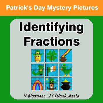 Identifying Fractions | St. Patrick's Day Math Mystery Picture Worksheets