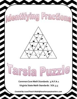 Identifying Fractions Tarsia Puzzle