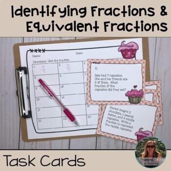 Identifying Fractions and Equivalent Fractions Task Cards