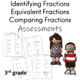 Identifying Fractions, Equivalent Fractions, Comparing Fractions Assessments