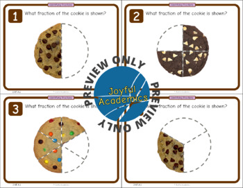 FREE! Identifying Fractions of a Whole Cookie Task Cards