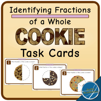 Identifying Fractions of a Cookie Task Cards - FREE!