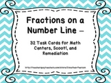 Identifying Fractions on a Number Line - 32 Task Cards for Math Centers