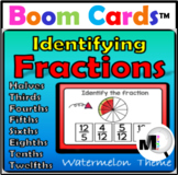Identifying Fractions to Twelfths Boom Cards Distance Learning