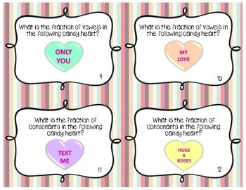Identifying Fractions using Conversation Hearts