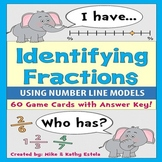 Identifying Fractions using Number Line Models {I Have, Who Has Game}