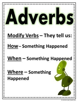 Adverbs and Their Function, How, When, Where Google Classroom Digital File