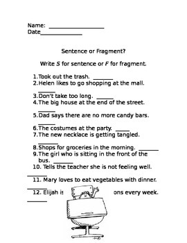 Identifying Fragments and Complete Sentences