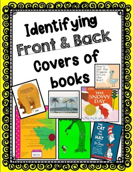 Identifying Front & Back Covers of Books