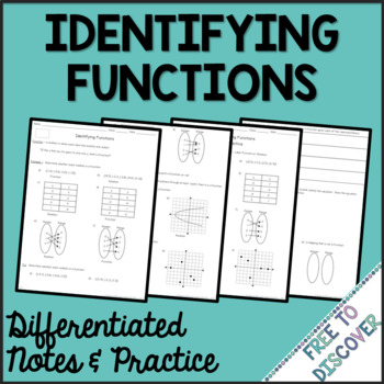 Identifying Functions Differentiated Notes and Practice