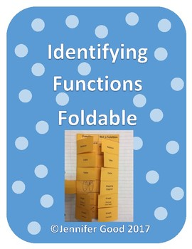 Identifying Functions Foldable