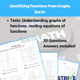 Identifying Functions From Graphs - Set #1