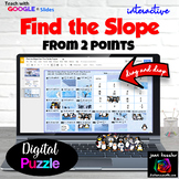 Finding the Slope from Two Points Digital Puzzle with GOOGLE Slides™