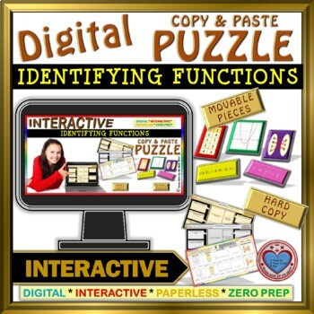 Identifying Functions (Google Interactive & Hard Copy) - 2 OPTIONS
