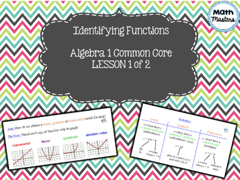 Identifying Functions Lesson 1 of 2