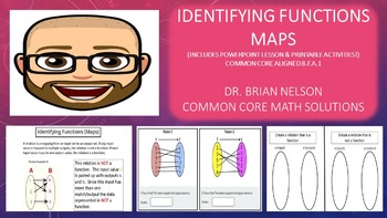 Identifying Functions (Maps) - PowerPoint Lesson & Printables!