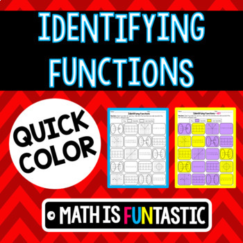 Identifying Functions - Quick Coloring Activity