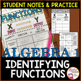 Function or Not Student Notes and Practice