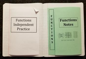 Identifying Functions (Foldables)