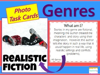 Identifying Genres Task Cards {with PHOTOS for differentiation}