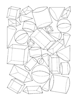 Identifying Geometric Solids Coloring Activity Math Geometry PDF Printable