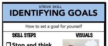 Identifying Goals Social Skill Steps Poster - The Empower Program K-2