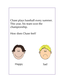 "Identifying ""Happy"" and ""Sad"" Feelings: Short Scenarios with Visuals"