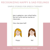 "Speech Therapy Social Skills for ""Happy"" and ""Sad"" Feelings"