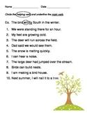 Identifying Helping Verbs & Main Verbs in Sentences
