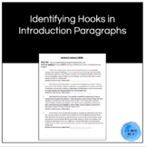 Identifying Hooks in Introduction Paragraphs Worksheet