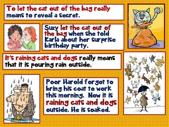Common Core Third Grade Up Idioms Interactive PPT