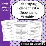 Independent and Dependent Variables Practice