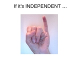 Identifying Independent and Dependent Clauses with Sign Language