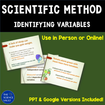Scientific Method: Independent and Dependent Variables and Control Groups