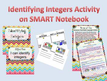 Identifying Integers Activity SMART Notebook (First Week of School)