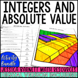 Integers and Absolute Value Activity Pack - Distance Learning